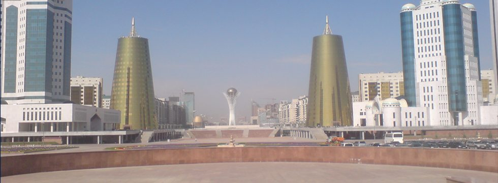 skyline of Kazakhstan