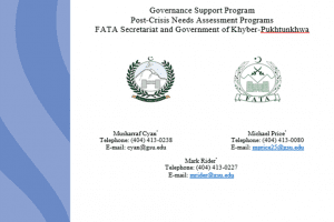 A Health Literacy RCT toward Improvement of Programmatic Outcomes of Tuberculosis Control in the Tribal Areas of Pakistan Governance Support Program Post-Crisis