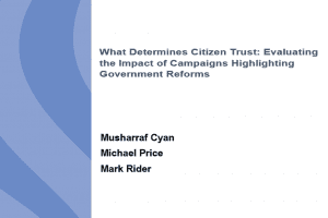 What Determines Citizen Trust: Evaluating the Impact of Campaigns Highlighting Government Reforms