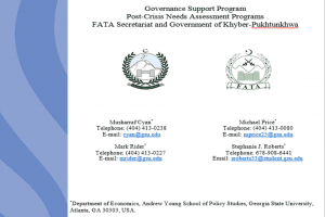An Evaluation of Historical and Recent Government Programs to Promote Off-Season Vegetable Cultivation in FATA