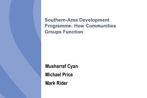 Southern-Area Development Programme: How Communities Groups Function